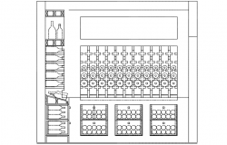 Champagne bar plan detail dwg file