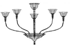 Chandlier lights 3d details