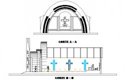 Chapel section detail dwg file