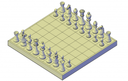 Chess set plan detail dwg file.