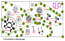 Children's Play ground Layout design drawing