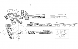 Children's library of Egypt with plan and elevation dwg file