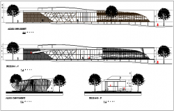 Children auditorium hall plan detail view with specifications detail dwg file