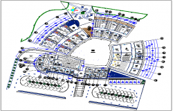Children education plan with playing area dwg file
