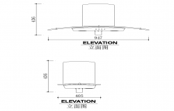 Chimney CAD structure detail elevation layout file
