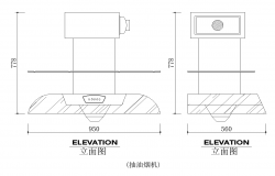 Chimney detail elevation 2d view layout autocad file