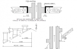 Chimney set up plan dwg file