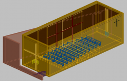 Church 3d drawing with dwg file