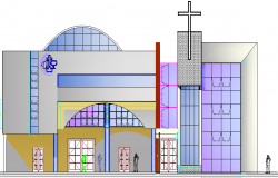 Church Architecture Design and Plan dwg file