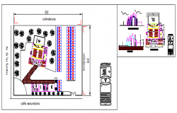 Church design drawing with modern style.
