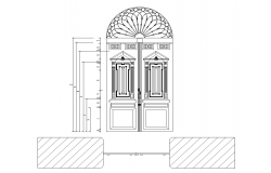 Church door design and detail