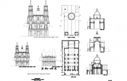 Church plan detail dwg file.