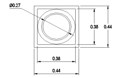 Circle shape plan, elevation and section detail dwg file