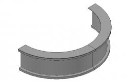 Circular bar table 3d