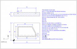 Cistern tank section plan and plan view detail dwg file