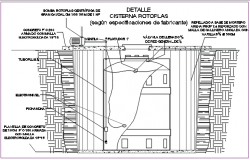 Cisterna rotoplas detail dwg file