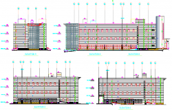 City Arcade Architecture Project dwg file