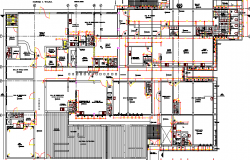City Hospital Architecture Structure Layout dwg file