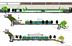 City Public Park Architecture Design and Elevation dwg file