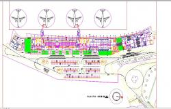 City airport layout plan cad drawing details dwg file