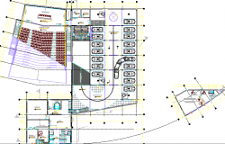 City auditorium hall architecture layout plan dwg file