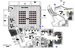 City bank agency architecture layout plan details dwg file