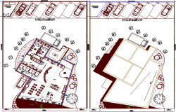 City boutique architecture layout plan dwg file