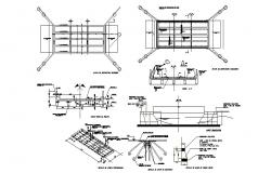 City bridge section and construction details dwg file