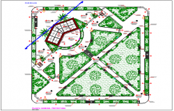 City center garden landscaping details dwg file