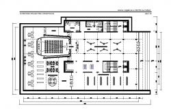 City culture center distribution layout plan cad drawing details dwg file