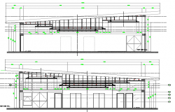 City function hall architecture project dwg file