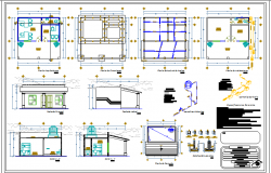 City government office and chamber auto-cad details dwg file