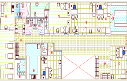 City health care clinic architecture layout dwg file