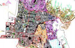 City map of Cochabamba city dwg file