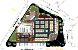 City market landscaping details with plan dwg file