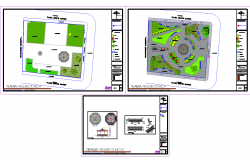 City park architecture design cad drawing