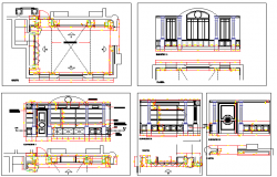 City private school architecture project details dwg file