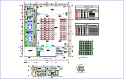 Civic center plan with door and window detail dwg file