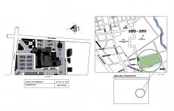 Civil hospital location plan and distribution plan cad drawing details dwg file