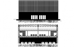Class room elevation and section detail dwg file