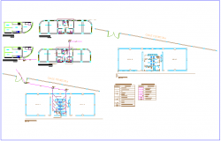 Class room plan design view with sanitary installation dwg file