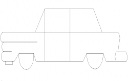 Classic cars side elevation