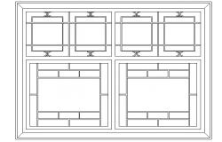Classical window elevation
