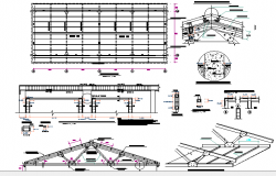 Classroom Architecture Design, Construction, Structure dwg file