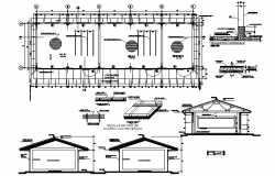 Classroom design with detail dimension in dwg file