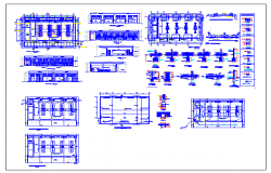 Classroom details of two flooring school dwg file