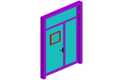 Classroom door design 3d view