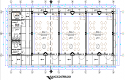 Classroom plan detail dwg file