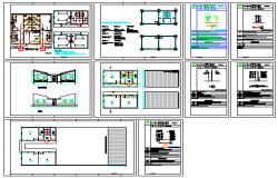 Classroom sanitary block design drawing