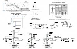 Classroom sectional detail of a school  dwg file
